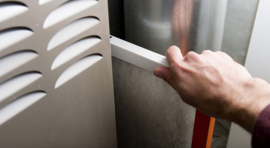Furnace filter cleaning