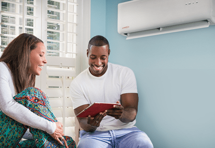 Ductless Heating and Cooling is Comfortable