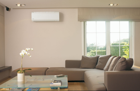Ductless Unit On Living Room Wall