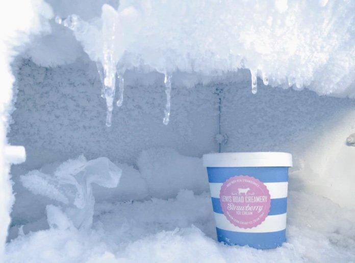 commercial freezer ice buildup